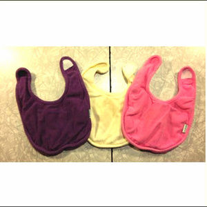 ~3~ Green Sprouts Baby Bibs: Purple Pink Yellow